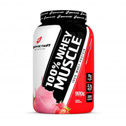 100% Whey Muscle Morango 900g BodyAction