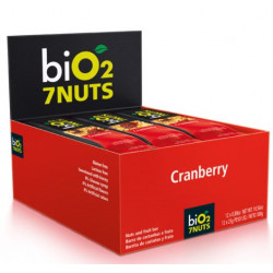 Bio2 7Nuts Cranberry + 7 Castanhas Display 12x25g