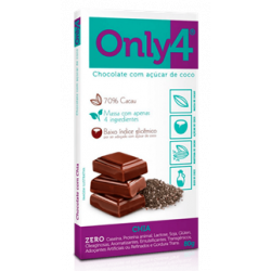 Chocolate com Chia 70% 80g Only4
