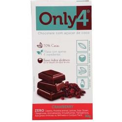 Chocolate Cacau/Cranberry 70% 80g Only4