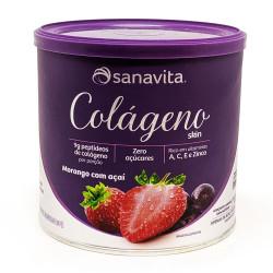 Colágeno Skin Morango com Açaí 300g Sanavita