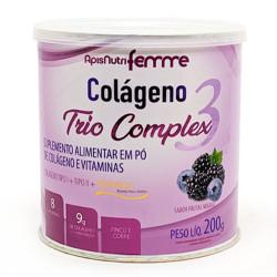 Colágeno Trio Complex 3 Frutas Negras 200g Apisnutri