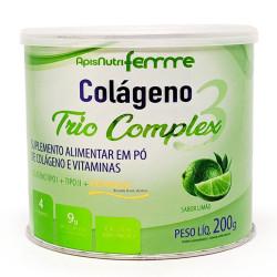 Colágeno Trio Complex 3 Limão 200g Apisnutri