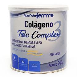Colágeno Trio Complex 3 200g Apisnutri
