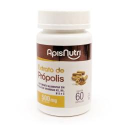 Cápsulas de Extrato de Própolis 60 de 500mg Apisnutri