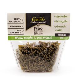 Macarrão Gourmet Fusilli Espinafre Berinjela Pimenta Chilli 300g Casarão