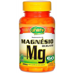Magnésio Quelato 60 Cápsulas Unilife