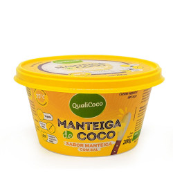 Manteiga de Coco Sabor Manteiga Com Sal 200g Qualicoco