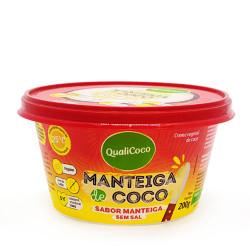 Manteiga de Coco Sabor Manteiga Sem Sal 200g Qualicoco