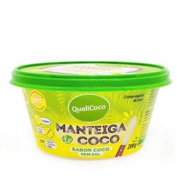 Manteiga de Coco Sem Sal 200g Qualicoco