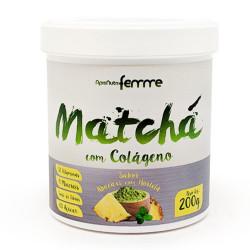 Matchá Com Colágeno Abacaxi Com Hortelã 200g Apisnutri