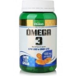 Cápsulas de Ômega 3 EPA e DHA 120 de 1000mg Vitalab